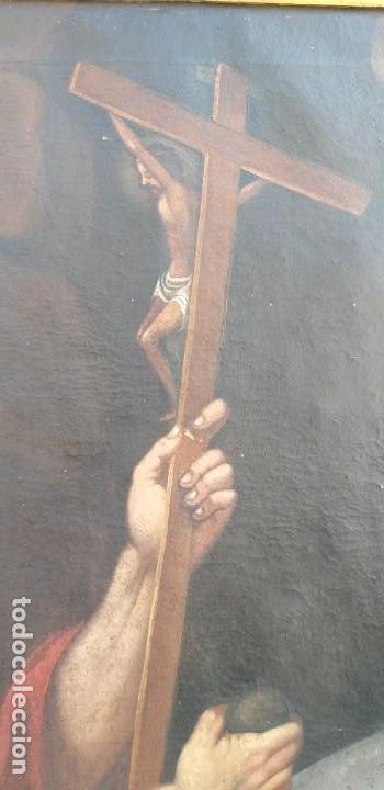 Arte: Oleo sobre lienzo Sg. XVIII San Marcos - Foto 6 - 155577494