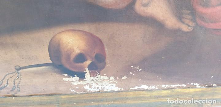 Arte: Oleo sobre lienzo Sg. XVIII San Marcos - Foto 7 - 155577494