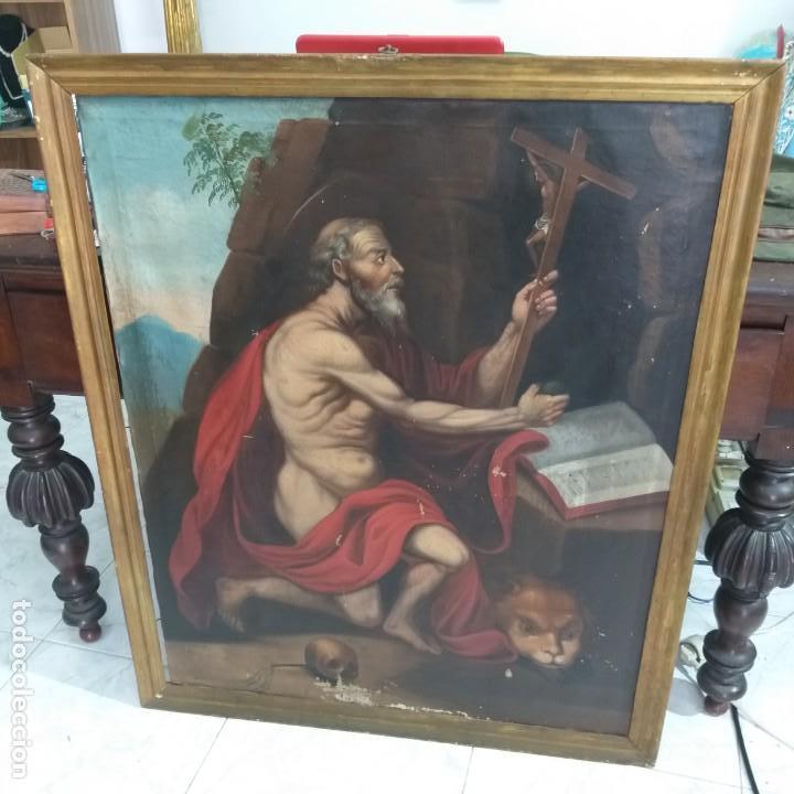 Arte: Oleo sobre lienzo Sg. XVIII San Marcos - Foto 8 - 155577494