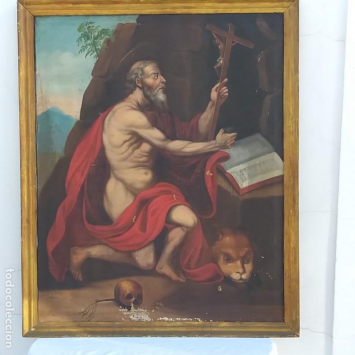 OLEO SOBRE LIENZO SG. XVIII SAN MARCOS (Arte - Pintura - Pintura al Óleo Antigua siglo XVIII)