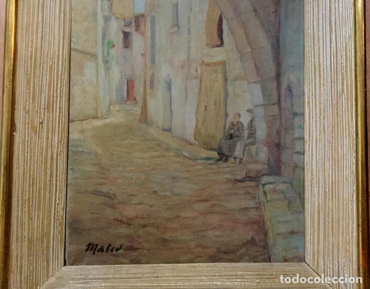 Arte: Óleo con paisaje firmado Mateu - Foto 2 - 155578026
