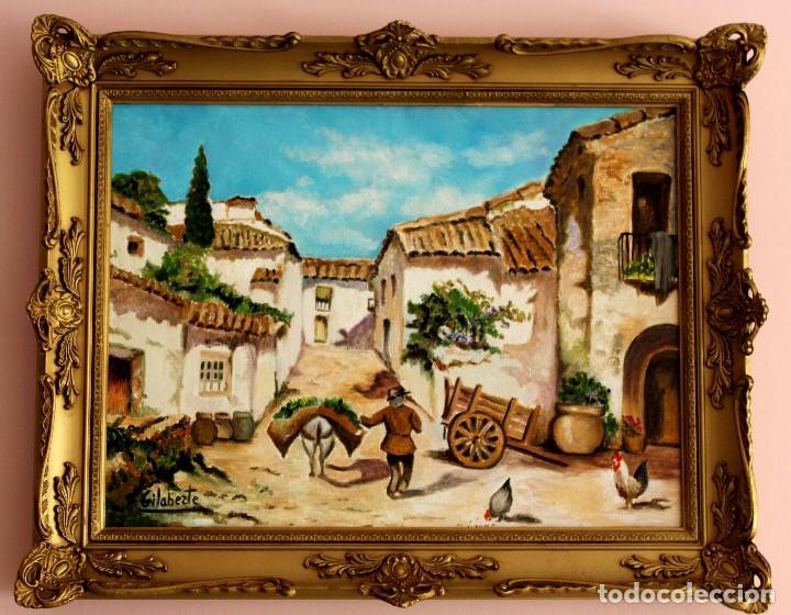 PUEBLO OBRA DE GILABERTE (Kunst - Malerei - Zeitgenössische Ölmalerei)