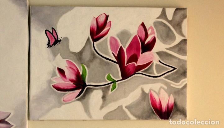 Arte: Triptico de flores obra de Gilaberte - Foto 3 - 155580218