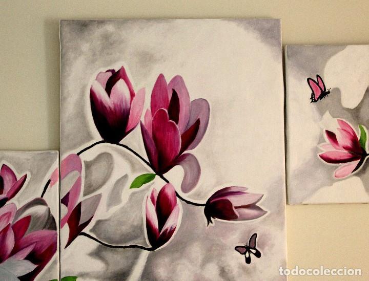 Arte: Triptico de flores obra de Gilaberte - Foto 4 - 155580218