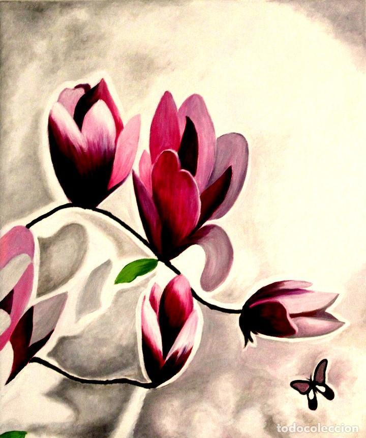 Arte: Triptico de flores obra de Gilaberte - Foto 5 - 155580218