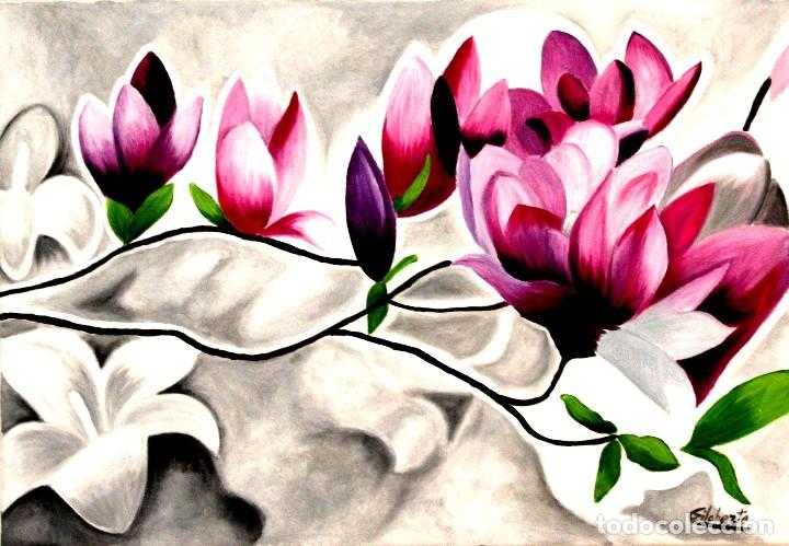Arte: Triptico de flores obra de Gilaberte - Foto 6 - 155580218