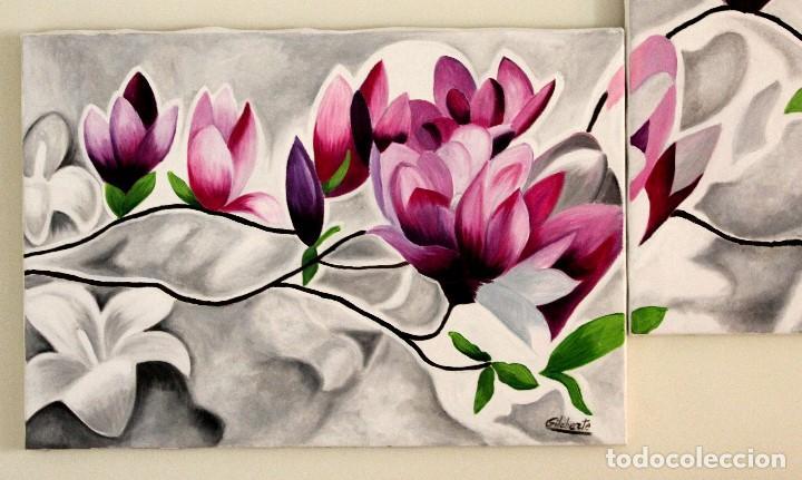 Arte: Triptico de flores obra de Gilaberte - Foto 7 - 155580218