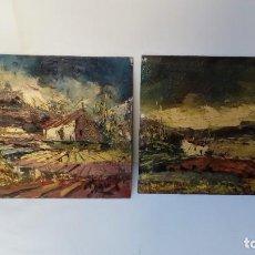 Arte: OLEOS SOBRE TABLEX-PAREJA. Lote 155657822