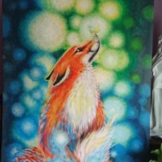 Arte: PINTURA GOUACHE SOBRE LIENZO GRAN TAMAÑO. Lote 155659822