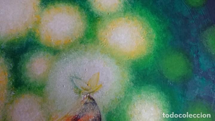 Arte: PINTURA GOUACHE SOBRE LIENZO GRAN TAMAÑO - Foto 2 - 155659822