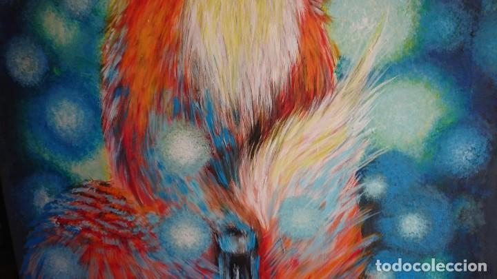 Arte: PINTURA GOUACHE SOBRE LIENZO GRAN TAMAÑO - Foto 6 - 155659822
