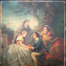 Kunst - Escena Galante S. XIX - Óleo lienzo - 155678890