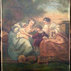 Kunst - Escena infantil. S. XIX. Óleo lienzo - 155680414