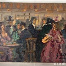 Arte: ÓLEO SOBRE LIENZO ,REPRESENTANDO CABARET PARIS,FIRMADO ANDRÉS GRIFELL 24X19 MEDIDAS 65X54 CM BIOG. Lote 155697234