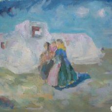 Arte: CUADRO LA FAMILIA EN GRECIA ORIGINAL. Lote 155715958