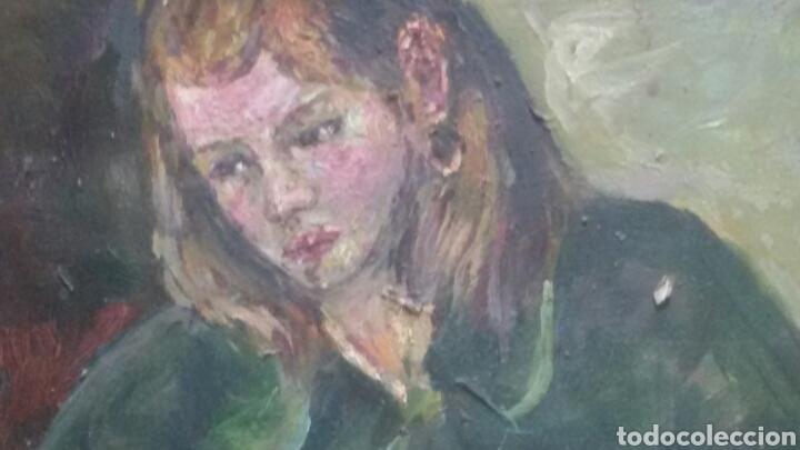 Arte: Antigua chica colegio privado original+marco - Foto 7 - 155723414