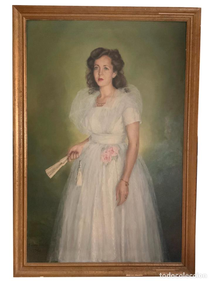 SOBERBIO CUADRO DE FELIPE DE ABAJO ONTAÑÓN, 1,60, X 1,10, X 3,5, BURGOS 1949 (Arte - Pintura - Pintura al Óleo Contemporánea )