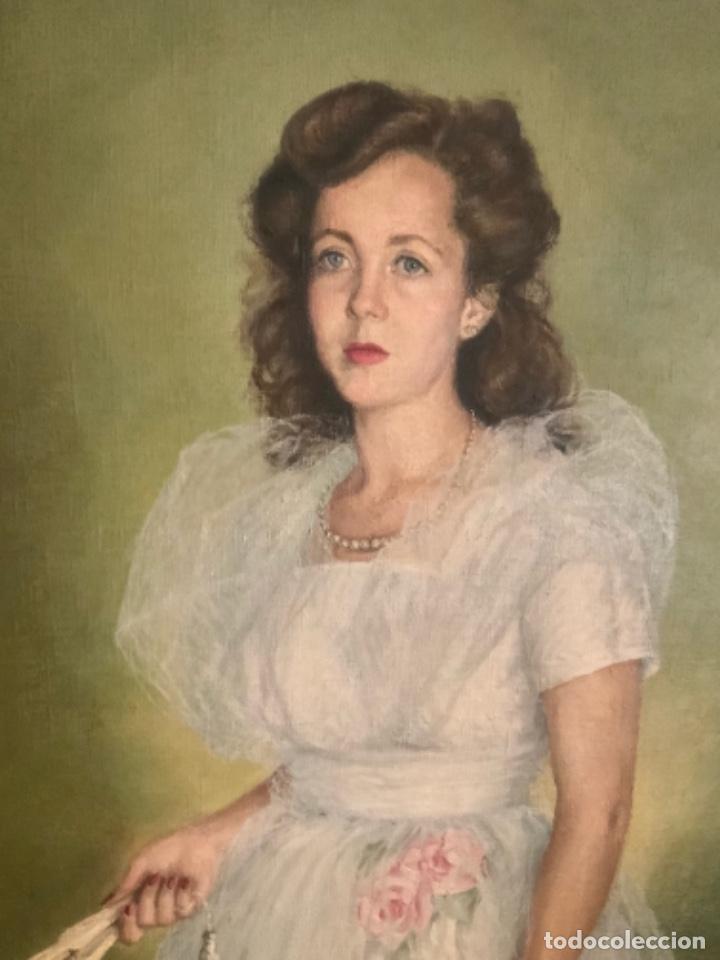Arte: Soberbio cuadro de Felipe de abajo Ontañón, 1,60, x 1,10, x 3,5, Burgos 1949 - Foto 2 - 155770690