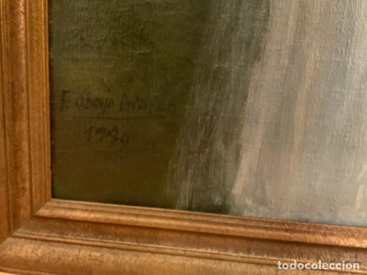 Arte: Soberbio cuadro de Felipe de abajo Ontañón, 1,60, x 1,10, x 3,5, Burgos 1949 - Foto 4 - 155770690