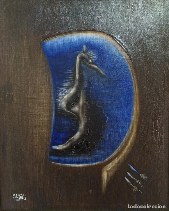 JOSEFA TÁPIES (HERMANA DE ANTONIO TÁPIES). COMPOSICIÓN ONÍRICA II. FIRMADO A MANO (Arte - Pintura - Pintura al Óleo Contemporánea )
