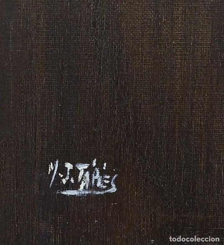 Arte: Josefa Tápies (Hermana de Antonio Tápies). Composición Onírica II. Firmado a mano - Foto 2 - 155783474