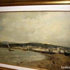 Arte: RICARDO MANZANET. PINTOR VALENCIANO. FINALES S. XIX. OLEO SOBRE LIENZO.. Lote 155814002