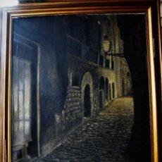 Arte: OLEO/TELA - FDO JOSEFINA PRAT DE LA RIBA - PAISAJE CCREPUSCULAR URBANO. Lote 155819902