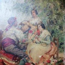 Arte: ÓLEO DEL PINTOR VALENCIANO LUIS BEUT ''LA CHARLA ''. Lote 153561918