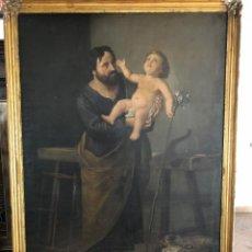 Arte: ÓLEO SAN JOSÉ CON NIÑO S.XVIII. Lote 155910854