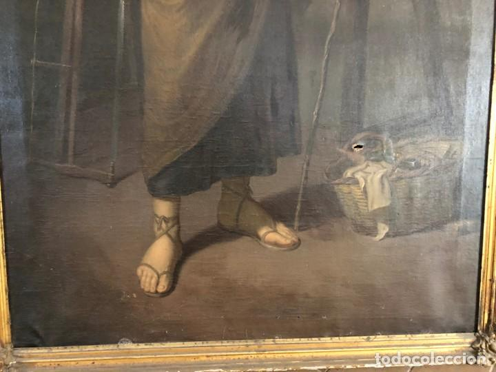 Arte: Óleo San José con niño S.XVIII - Foto 4 - 155910854