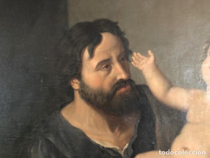 Arte: Óleo San José con niño S.XVIII - Foto 7 - 155910854