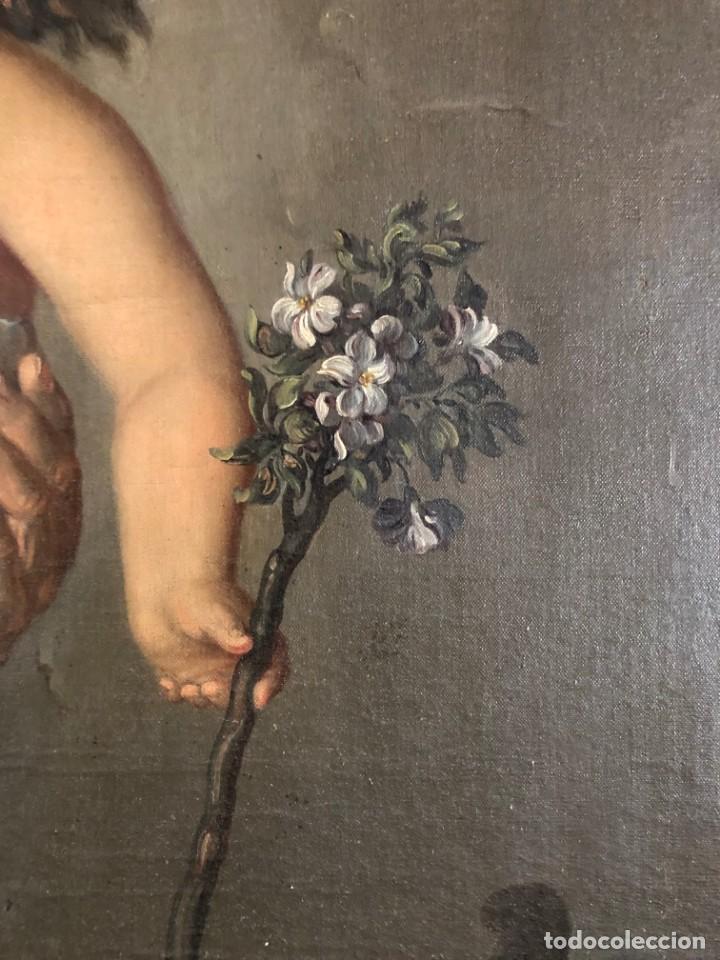 Arte: Óleo San José con niño S.XVIII - Foto 9 - 155910854