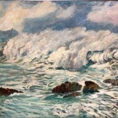 Arte: RAFAEL ESTRANY I ROS (MATARÓ, 1884 - BARCELONA, 1958) OLEO SOBRE TELA. OBRA PUBLICADA. 92 X 167 CM.. Lote 155923402