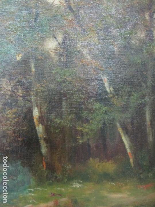 Arte: Antigua Pintura - Óleo sobre Tela - Paisaje - Escuela Catalana - Principios S. XX - Foto 5 - 155954802