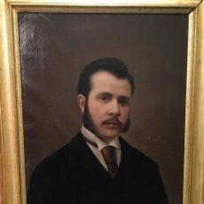 Arte: RETRATO DE CABALLERO POR FEDERICO DE MADRAZO EN 1862. Lote 155993314