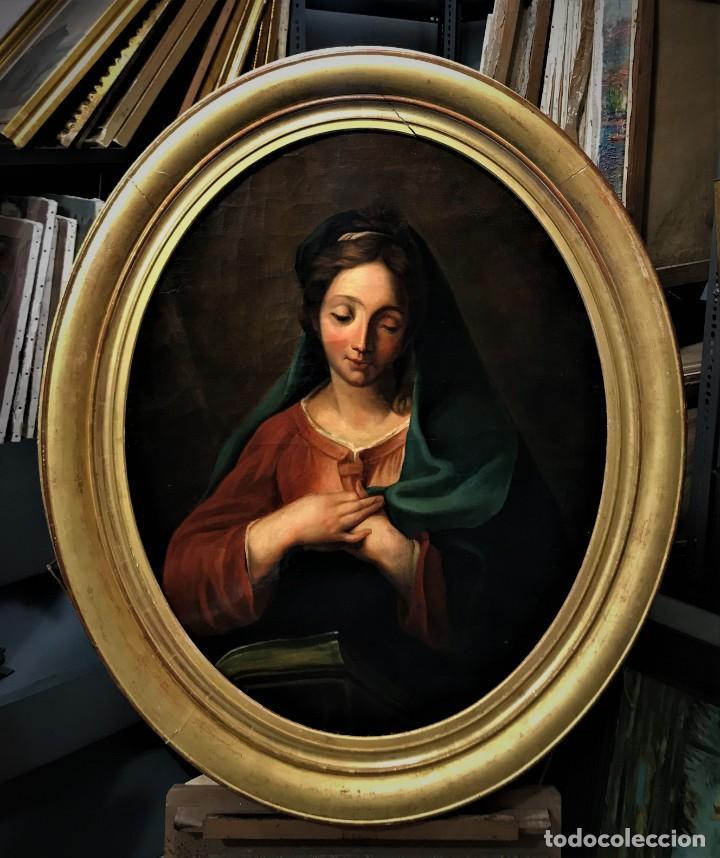 EXCEPCIONAL VIRGEN DEL LIBRO (Arte - Pintura - Pintura al Óleo Antigua siglo XVIII)