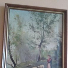 Arte: PINTURA PASTORCILLA SIGLO XIX. Lote 156455998