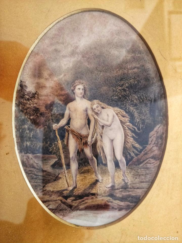 Arte: Magistral obra de Adan y Eva expulsados del Paraiso, Gran calidad, detalle y minuciosidad - Foto 2 - 156485830