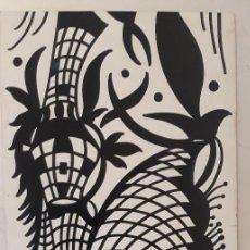 Arte: ABSTRACTO SOBRE CARTULINA ( SIN MARCO ) 1117 ). Lote 156491722