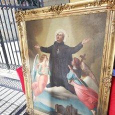 Arte: REPRESENTACIÓN SAN PABLO DE LA CRUZ ÓLEO SOBRE LIENZO ÉPOCA CANONIZACIÓN CIRCA 1867. Lote 156507505