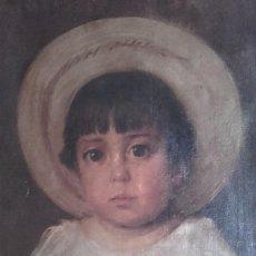 Arte: RETRATO DE NIÑA SIGLO XIX. Lote 156511538
