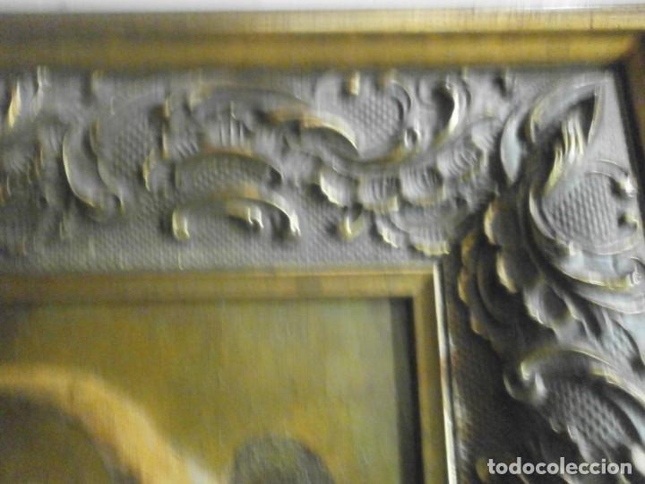 Arte: Cuadro enmarcado oleo sobre tabla contrachapado desnudo masculino firmado Langa 31 X 28 cm. - Foto 3 - 156541302