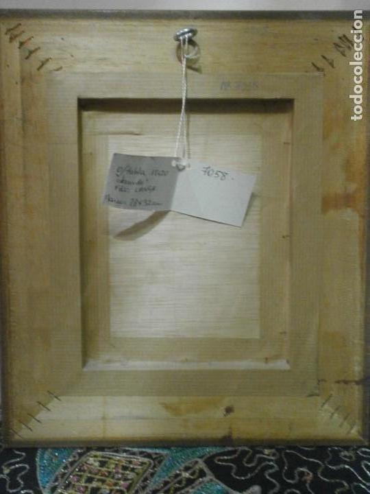 Arte: Cuadro enmarcado oleo sobre tabla contrachapado desnudo masculino firmado Langa 31 X 28 cm. - Foto 4 - 156541302