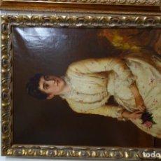 Arte: CUADRO OLEO SOBRE LIENZO PINTOR INGLES WILLIAM OLIVER DEL SIGLO XIX. Lote 156551894