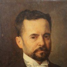 Arte: RETRATO BURGUÉS. OLEO LIENZO. 1895.. Lote 156597574