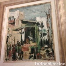 Arte: CUADRO EL MERCADO DE COZAR. Lote 156619733