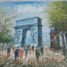 Arte: OLEO DEL ARCO DE PARIS. Lote 156711320