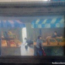 Arte: JOSE GARCIA TORRES (VALENCIA 1934) MUJERES EN EL MERCADO. Lote 156730738