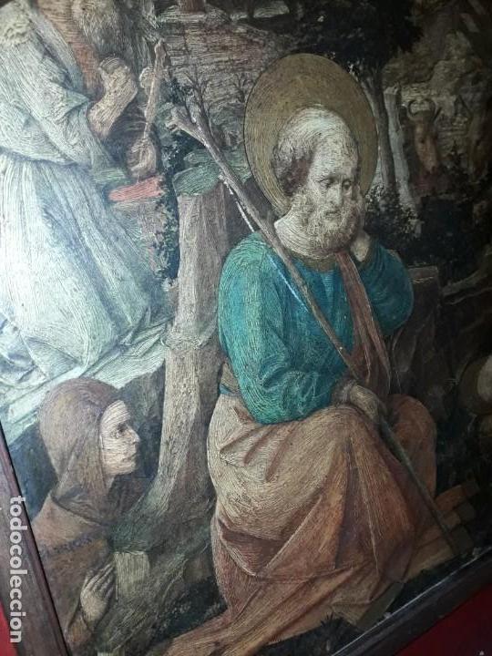 Arte: Magnifico cuadro reproducción sobre madera Adoración al Niño Jesús y Santos F. Filippo Lippi - Foto 6 - 156766746