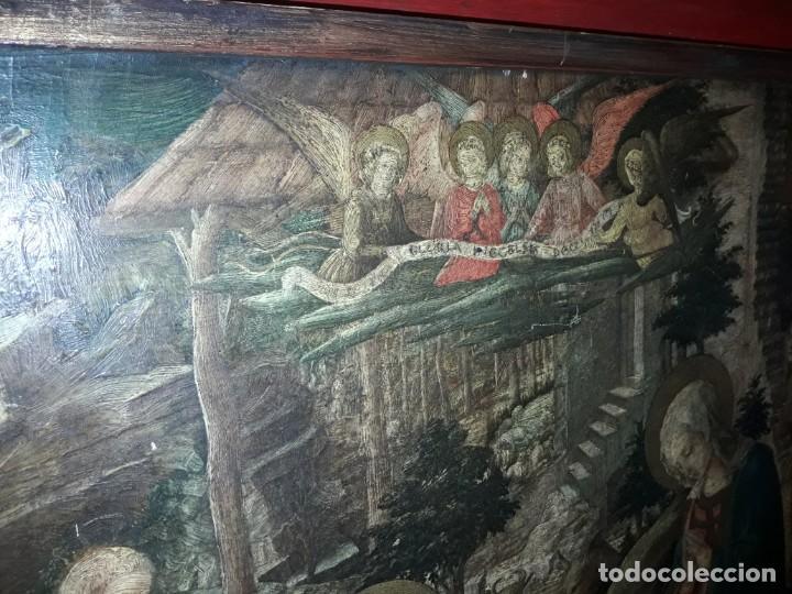 Arte: Magnifico cuadro reproducción sobre madera Adoración al Niño Jesús y Santos F. Filippo Lippi - Foto 8 - 156766746